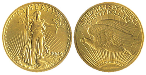 $20 Saint Gauden