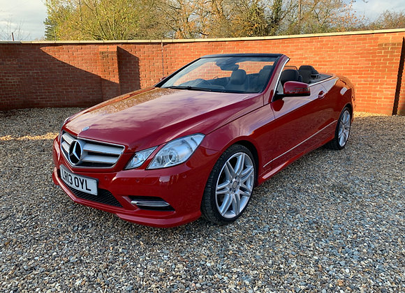 2013 MERCEDES E250 AMG SPORT CONVERTIBLE 47300 MILES FSH AIR SCARF COMMAND