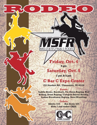 Msfr Entry Fee 5 00 Convenience Fee Midstates Rodeo