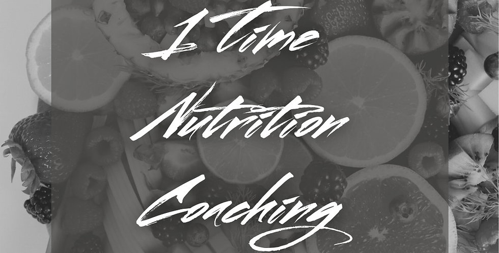 1 Time Nutrition Coaching
