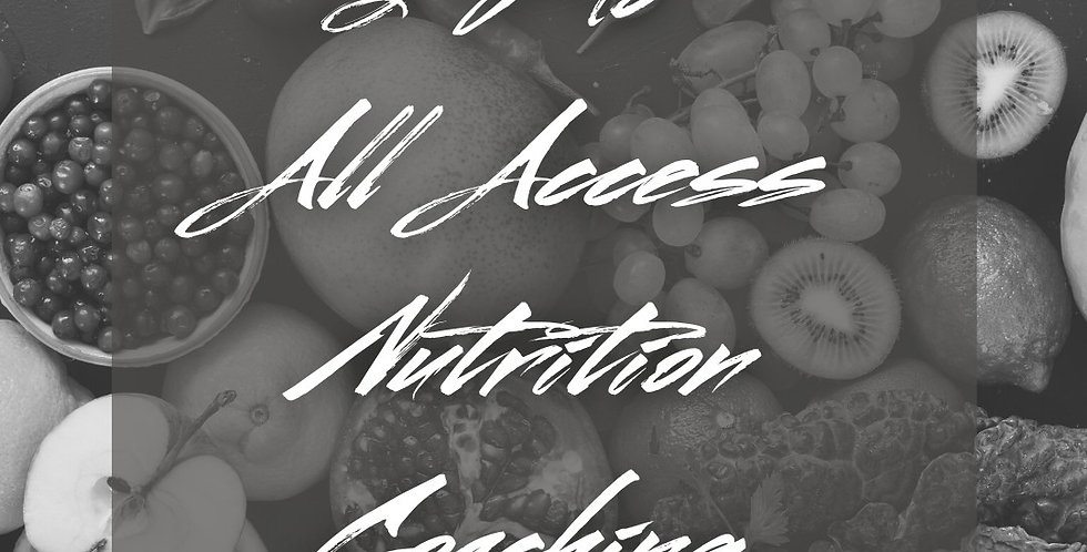 3 Mo All Access Nutrition Coaching