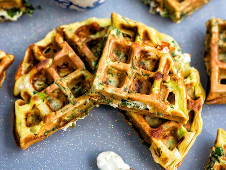 Savory Greek Waffles