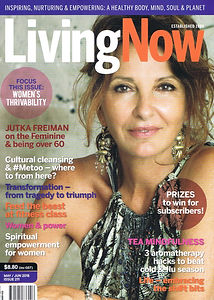 LivingNow health and wellbeing magazine cover