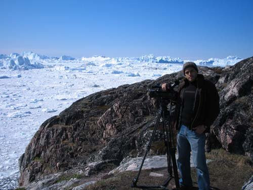Filming in Greenland