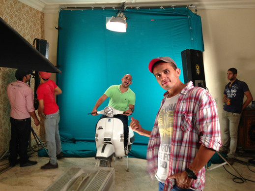 Behind the scenes Disalata shoot