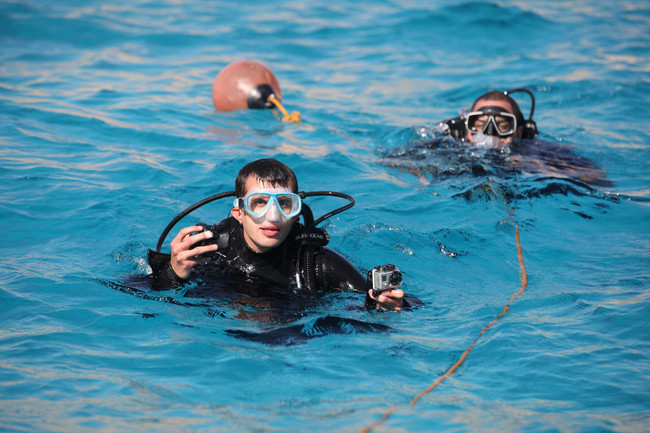 Filming underwater in the Red Sea