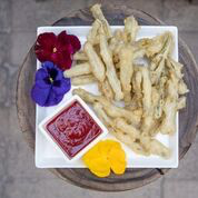 Cactus Fries with Prickly Pear Ketsup