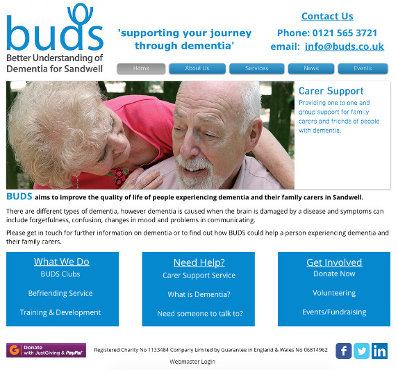 eStudious donates time to create new website for BUDS charity