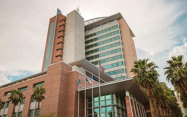 Regional Justice Center where Micahel Sanft of Mayfield, Gruber & Sanft defend clients.