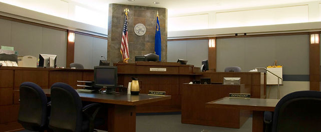 Clark County Courtroom where Mayfield, Gruber & Sanft defend their clients against all types of criminal charges.