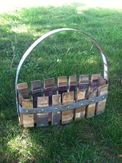 Rectangle Basket with Metal Handle