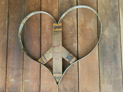 Peace Sign Heart - Pointy