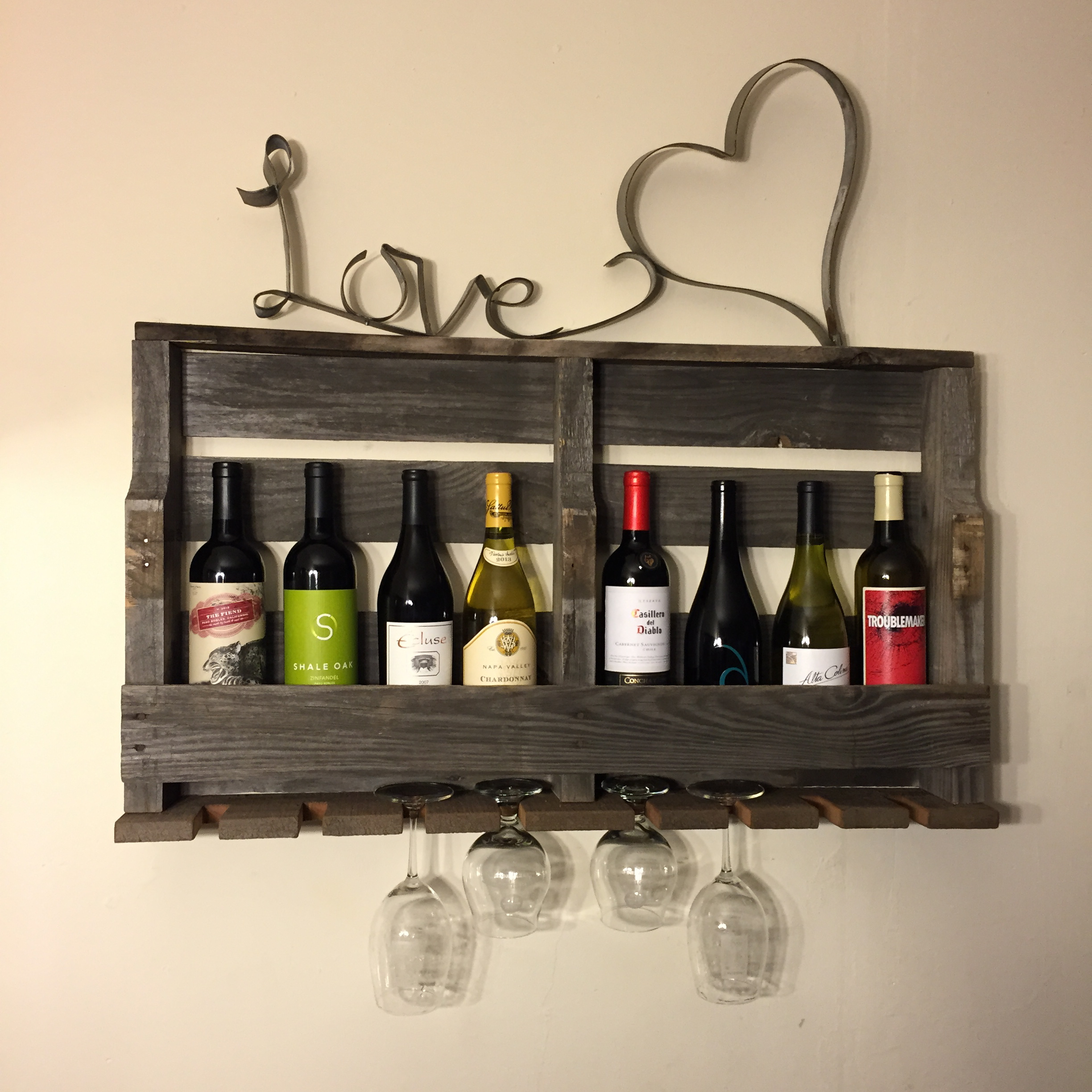 PTNSatisfiedCustomer - Pallet Wine Barrel Shelf