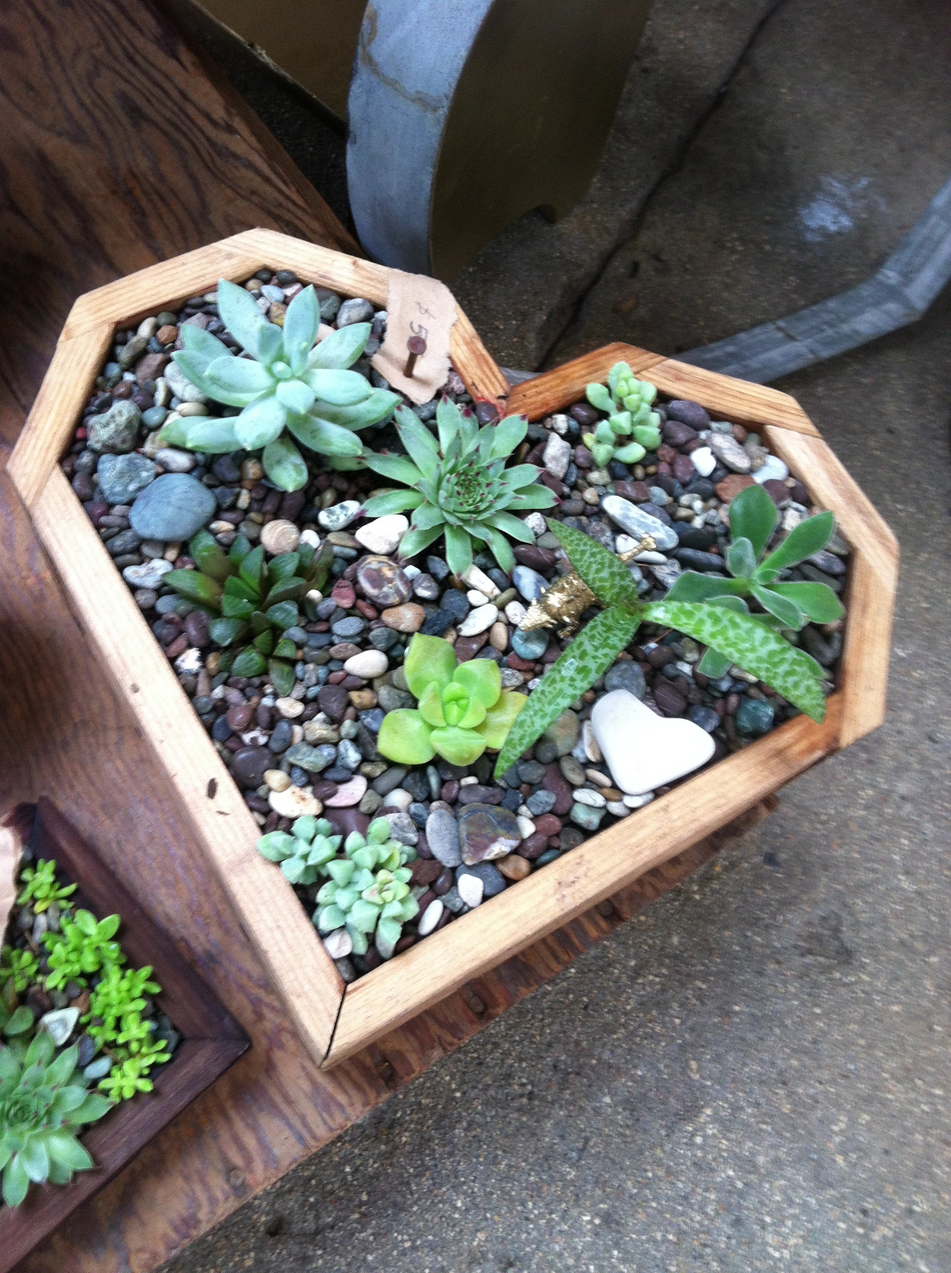 Heart Planter Box From Redwood