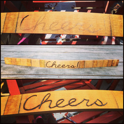 Cheers Engraved on a Stave