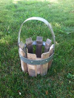 Cyclinder Basket with Metal Handle