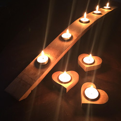 Stave and Heart Candle Holder