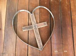 Cross Inside Heart - Rounded
