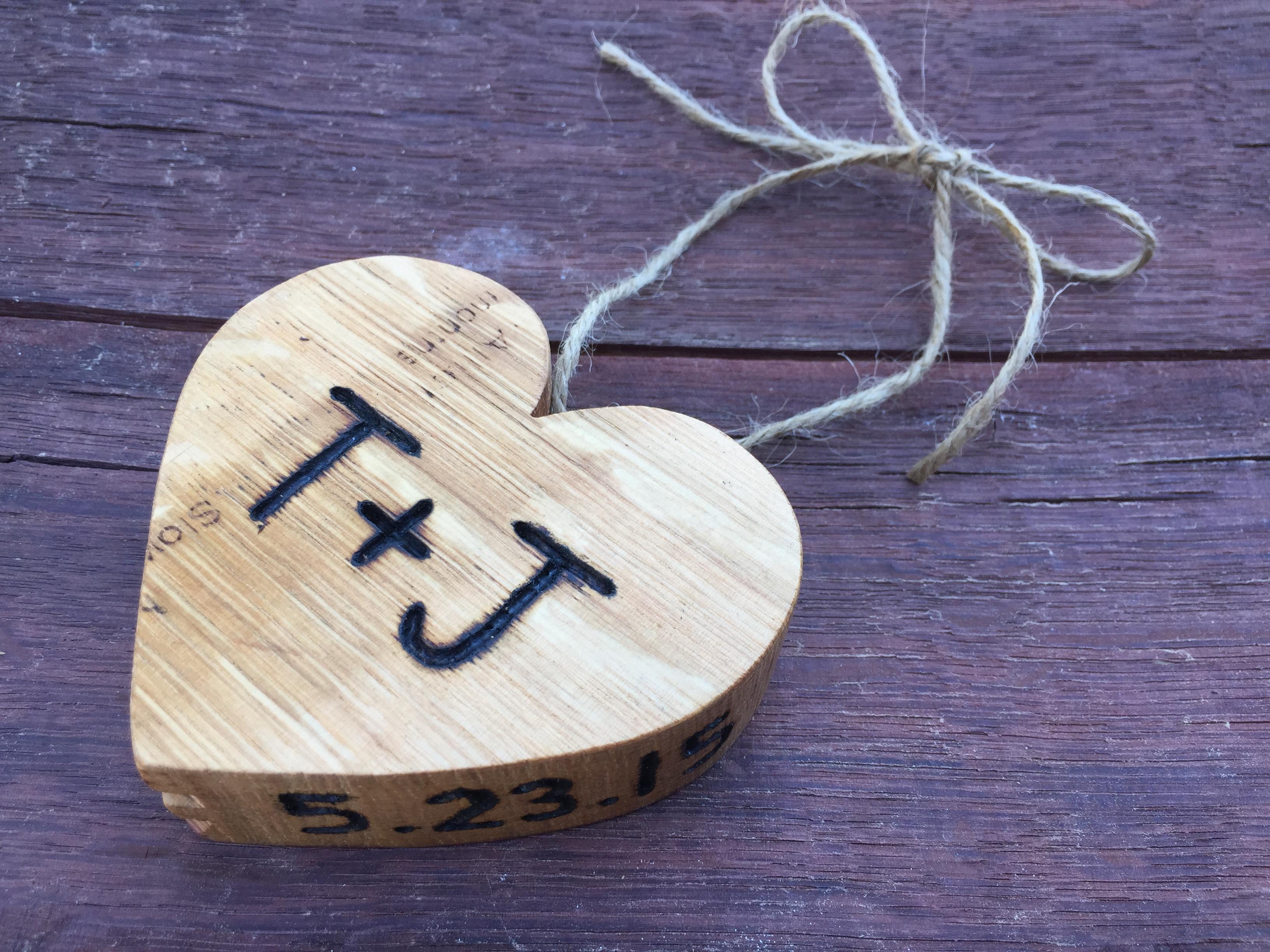 Customizable Wood Heart