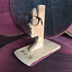 Barrel Head Silhouette Glasses Holder