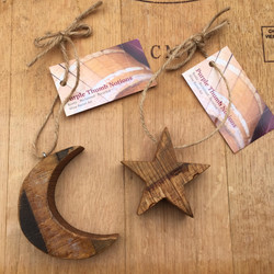 Moon and Star Ornaments