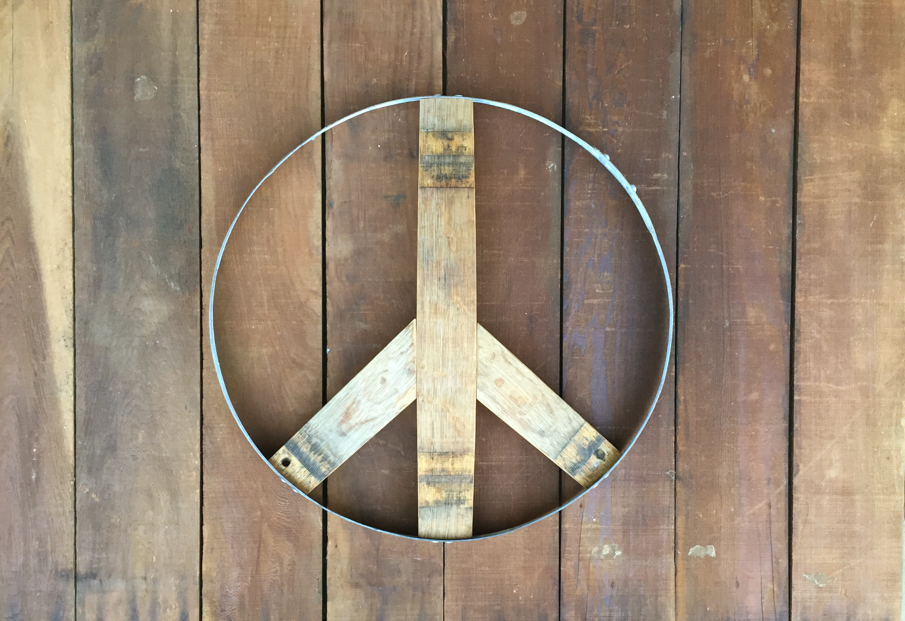 Peace Sign (natural oak side)
