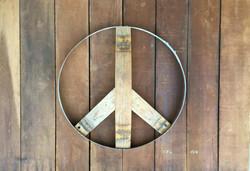Peace Sign (natural oak side)