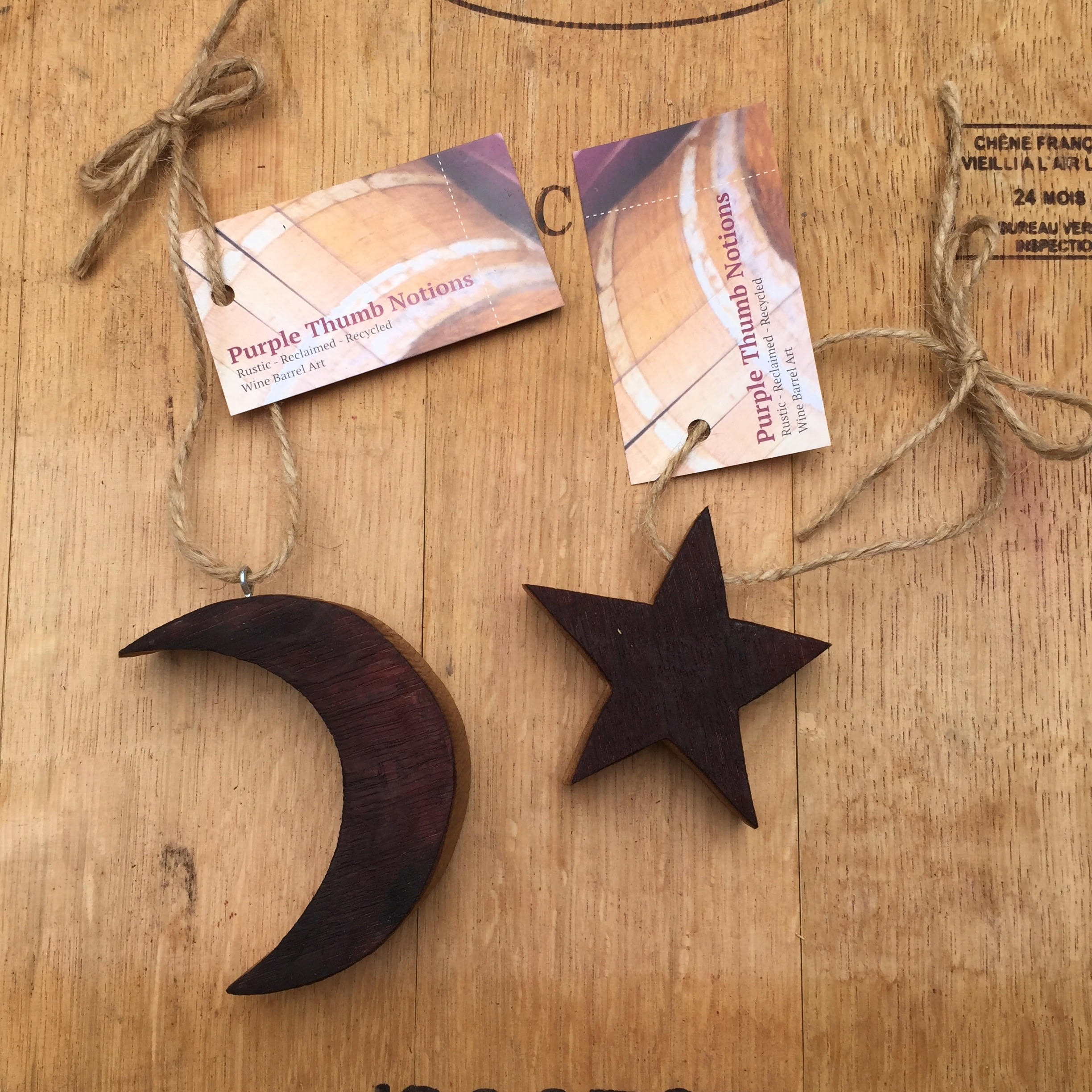 Wine Stained Moon and Star
