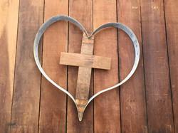 Cross Inside Heart - Pointy
