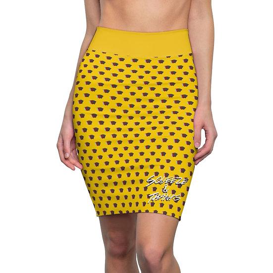 Accordion Polka Dot - Pencil Skirt