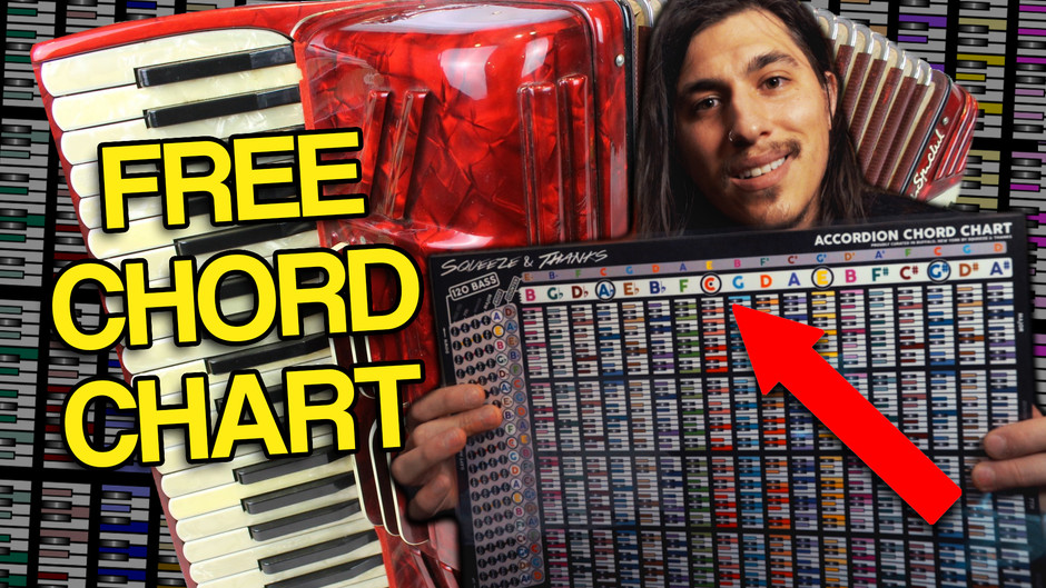 How to play the Accordion with FREE Accordion Chord Chart - Beginners Accordion Lesson