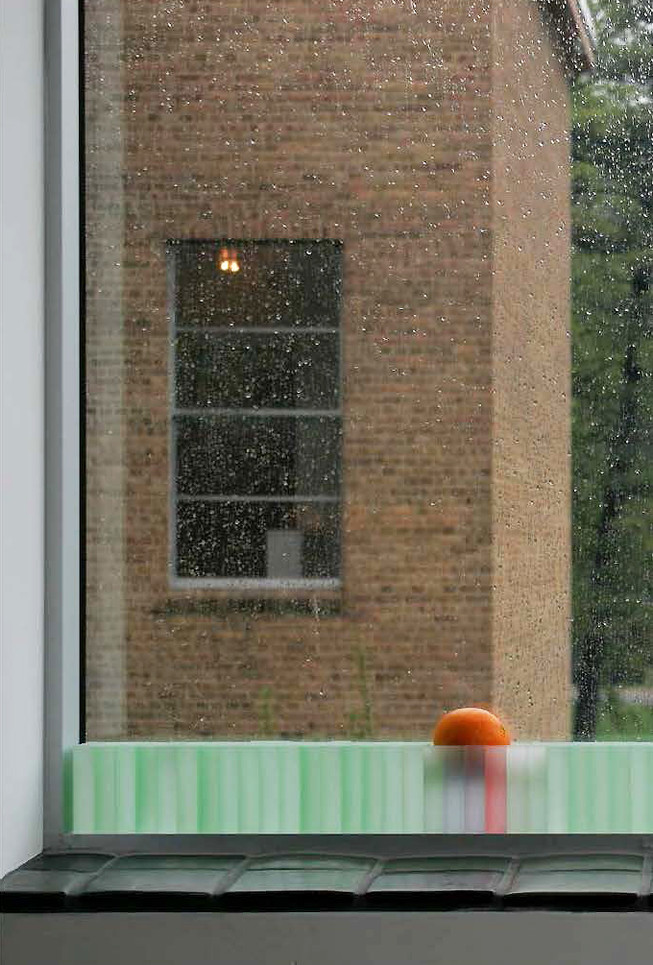 Orange Window Seat by Jada Schumacher