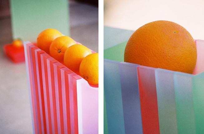 Column Orange with Ribbon Splat and Orange Window Seat by Jada Schumacher