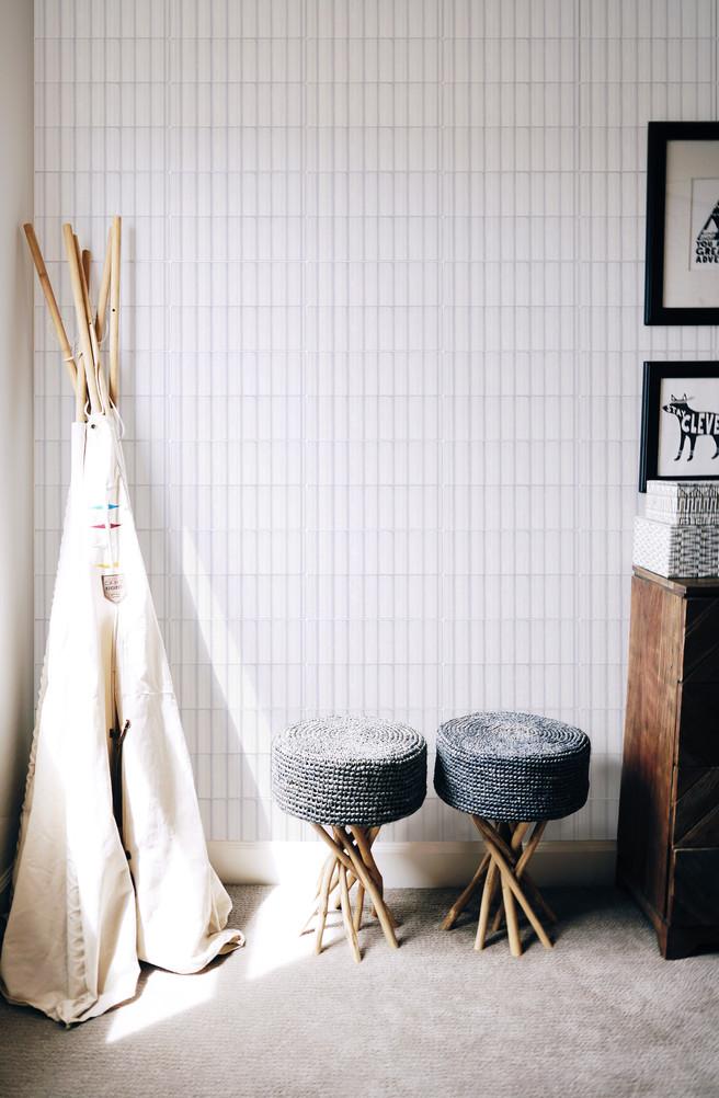 Seersucker Tile in White by Jada Schumacher for Clay Imports