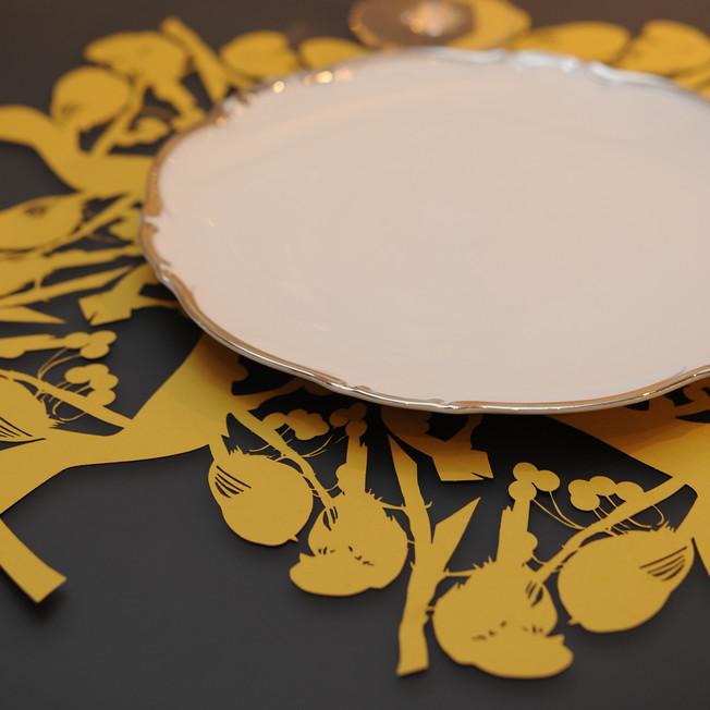 Lovebirds Placemat by Jada Schumacher for designorange