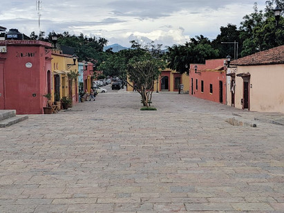 Oaxaca City, a UNESCO world heritage site tucked into the mountains