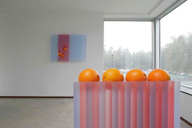 Still Life With Oranges and Column Orange by Jada Schumacher