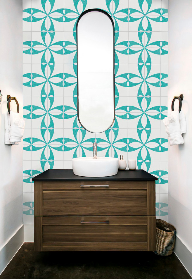 Whirl Tile in Teal by Jada Schumacher for Clay Imports