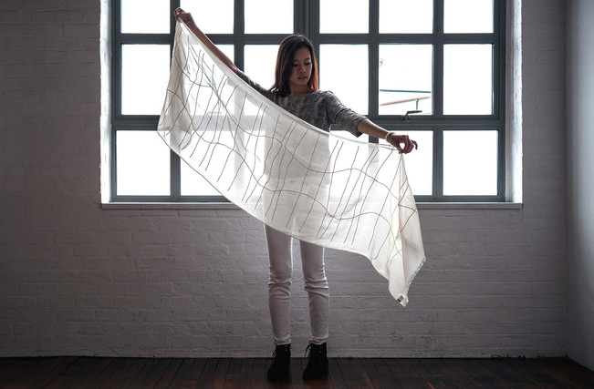 The Akari Scarf for The Noguchi Museum by Schumacher and Salvini