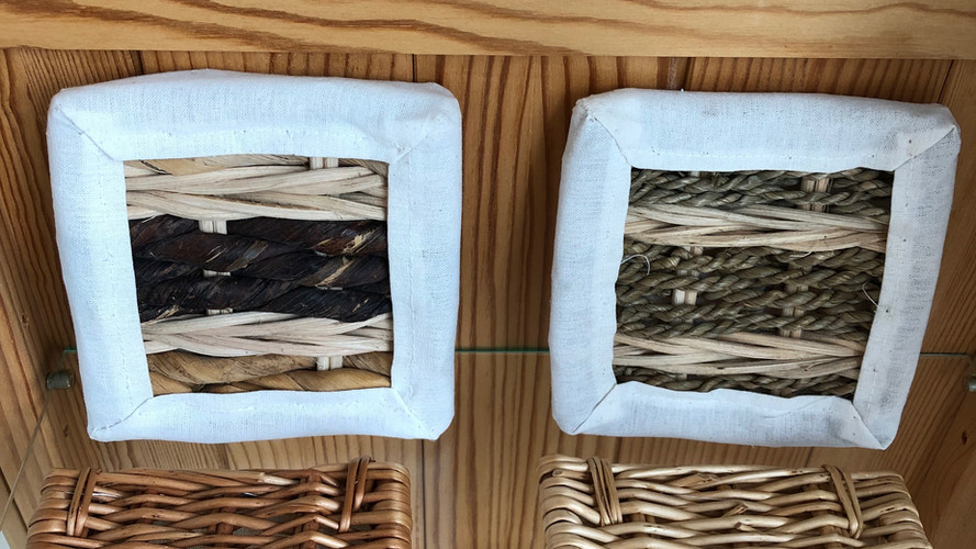 Wicker coffin samples