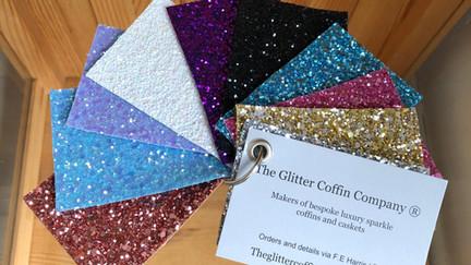 Glitter coffin samples