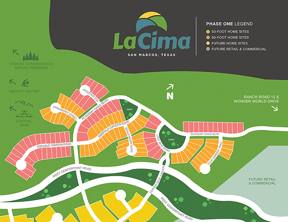 La Cima Community Site Map