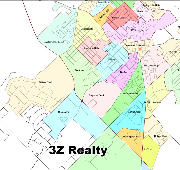 san marcos tx real estate subdivision map