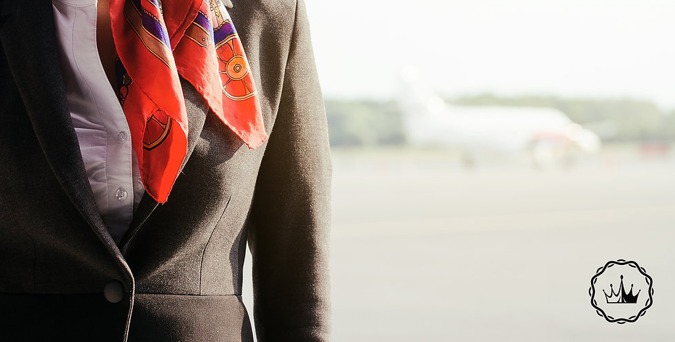 Stewardess on the airfield. Place for yo