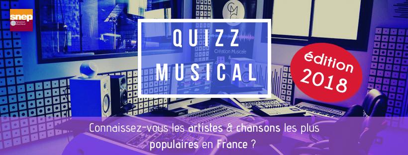 quizz musique artistes france français 2018 chansons test