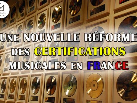 ACTU : Nouvelle réforme des certifications musicales