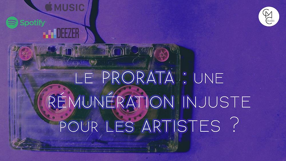 prorata mode de rémunération injuste pour les artistes ?