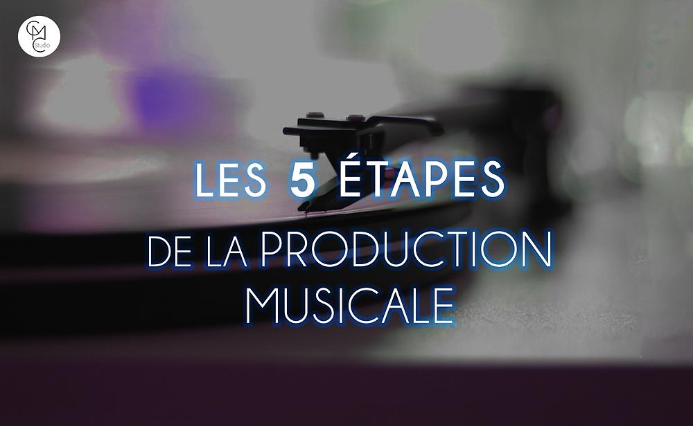 les 5 étapes de la production musicale cover