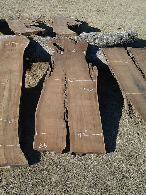 "Black Walnut (B5) 35""-44"" Wide x 9' Tall x 3 "" Thick"