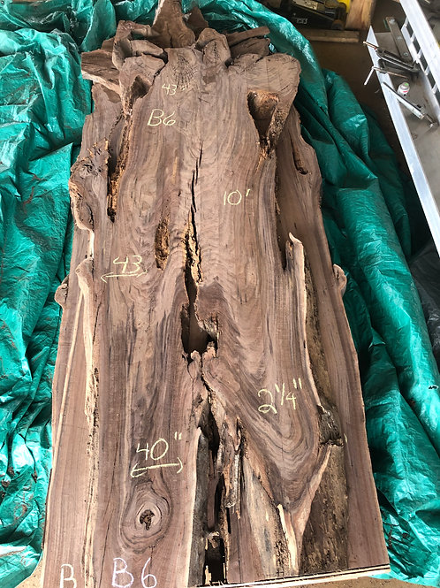 "Black Walnut (B6) 40""-43"" Wide x 9' Tall x 2.25 "" Thick"